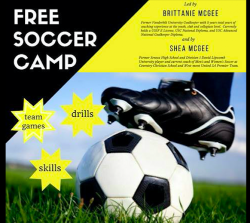 Free Soccer Camp: Ages 6-12